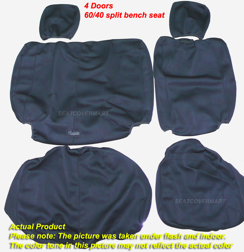 Jeep Wrangler 2007 10 Neoprene Full Set Car Seat Cover 4 Door Full Black NO4DBLK