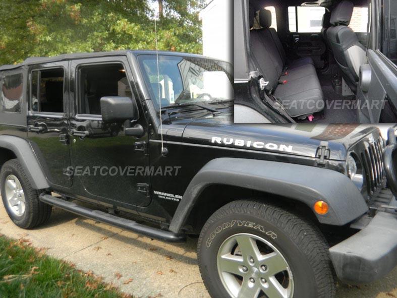 jeep wrangler unlimited jk 2007 10 neoprene front set seat cover black jpyesfr ebay. Black Bedroom Furniture Sets. Home Design Ideas