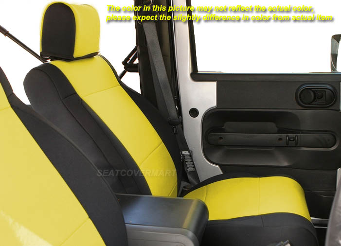 Jeep Wrangler Unlimited JK 2007-10 Neoprene Full Set Seat Cover 4 Dr Charcoal no