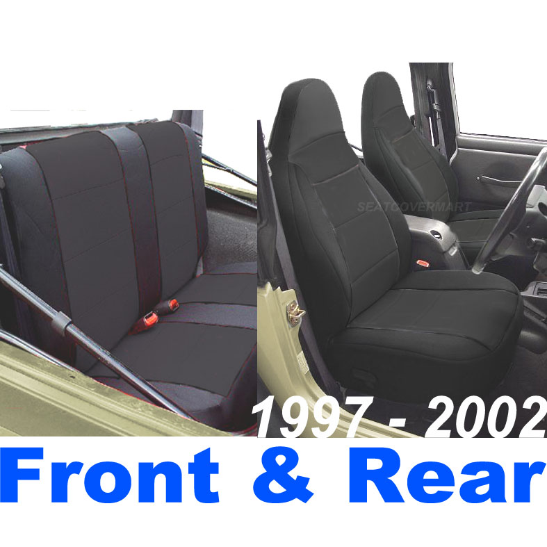 Amazing Details About Jeep Wrangler Tj Neoprene Seat Cover Full Set Front Rear Black 2002 127 02 Dailytribune Chair Design For Home Dailytribuneorg