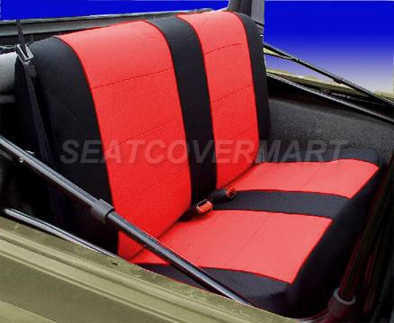 Jeep Wrangler Tj 1997 2006 Custom Neoprene Rear Seat Cover